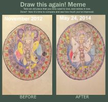 Before and After: Kazemon's Stain Glass Window by Camilia-Chan
