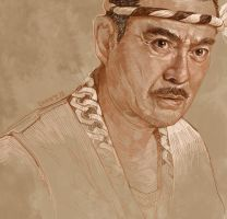 Daily Sketch No30: Sonny Chiba in Kill Bill by artandwine365