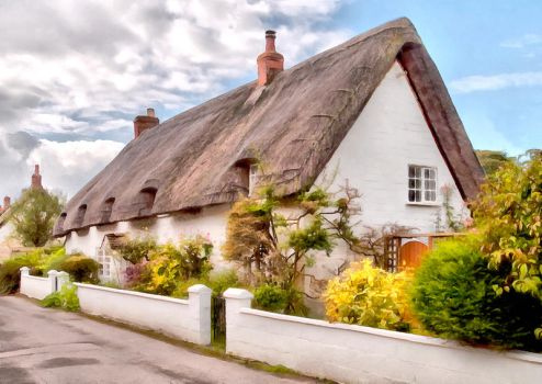 Thatched Cottage Avebury 04 by Paul-Gulliver