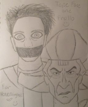 Tape Face and Frollo - for HONDTangled by IvyFlame64