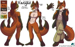 COMM - Vanyan the Fox Character Model Sheet by lastres0rt