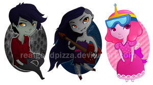 ADVENTURE TIME Keychains by realgoodpizza