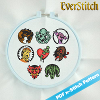 BioShock Infinite  All 8 Vigors Cross Stitch Pat by EverStitch