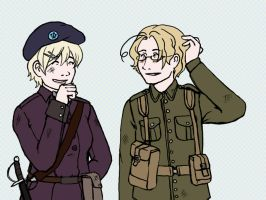 Hetalia- Canada and Ukraine by portabelloon