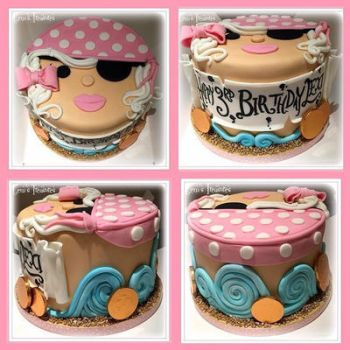 Lady Pirate Cake by gertygetsgangster