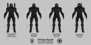 Omega Squad - Republic Commando by Artifician