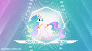 [MLP] Princess 'Sunbutt' Celestia by BrainlessPoop