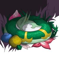 Serperior In The Grass by danny-spikes