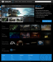 Desura Home Page by intense