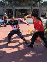 Captain America vs Gaston by Michael-GoldenHeart