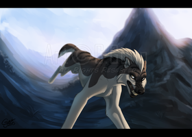 Through The Mountains by InstantCoyote