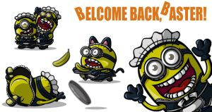 Minions maid cafe by newjackal7