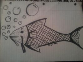 Sharpie Marker Fish by Kateche-sexyskunk
