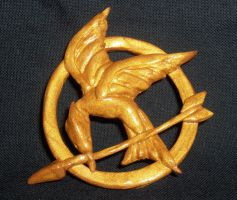 Mockingjay Pin by Geisha-Neko