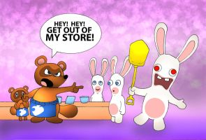 Raving Rabbids 2 by kilroyart