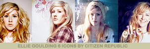 Ellie Goulding 6 Icons PSD by CitizenRepublic