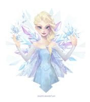 Crystalline - Queen Elsa by Zae369
