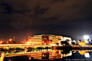 Iloilo City at night by Yolib