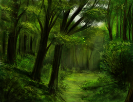 Green Forest by Keberyna