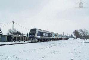 761 003 with container train in Gyorszabadhegy by morpheus880223