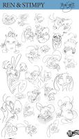 Ren and Stimpy expressions by Themrock