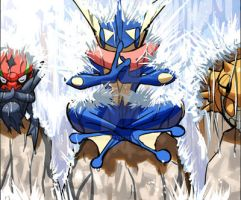 Greninja's Training by Cessa