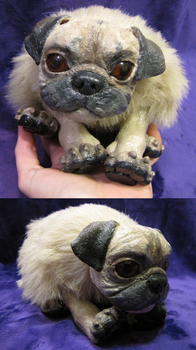 Mimi the pug doll. by Khrests
