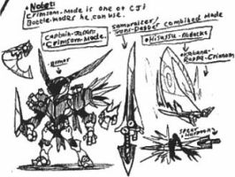 [Captain-Japan] Crimson-Mode sketches by Kainsword-Kaijin