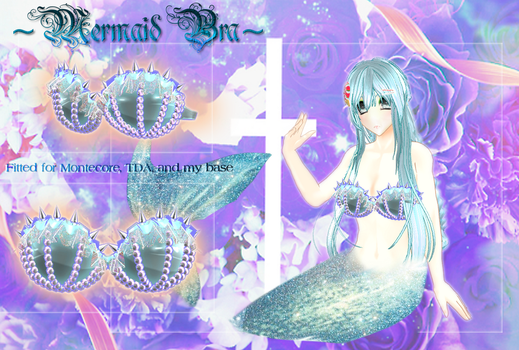 [MMD] Seapunk Mermaid Bra DL by DeidaraChanHeart