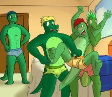 Diego and his brothers by fuzedragons