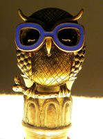 Owl with glasses by Sasha41