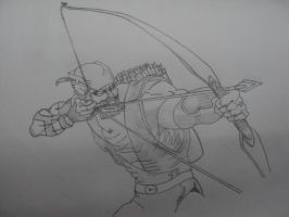Green Arrow Sketch by DaBest2196