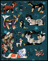 16 FREE creature adoptables - CLOSED by Amanska