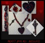 Heart and Key necklace by Fallonkyra
