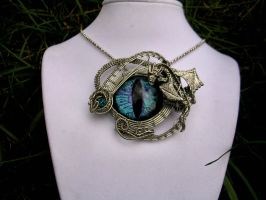 Wire Wrap - Baby Dragon Scale Picture Super Shift by LadyPirotessa