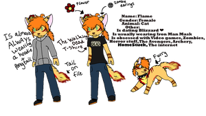 Flame anthro ref by Taylor12323