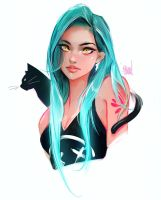 Amber eyes by rossdraws