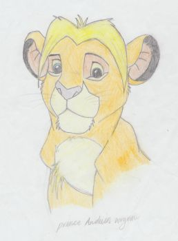prince Anduin Wrynn as a lion cub by moonlitowleyes