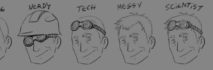 TF2 Engineer hairstyle study by TFresistance