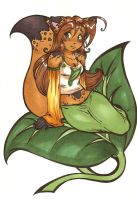Risu onna Leaf by cinnamon-kitten