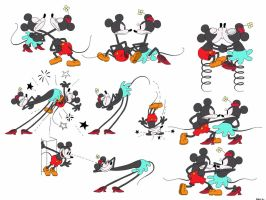 Model Sheet of Mickey Mouse and Minnie Mouse by Spartandragon12