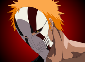 Ichigo's new Hollow mask by Mifang