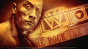 The Rock WWE Champion - Wallpaper by findmyart