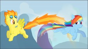Rainbow Dash and Spitfire by CaptainBritish