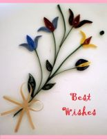Handmade Card - quilling by Rajlakshmi