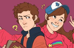 Dipper and Mabel by LuckySquid