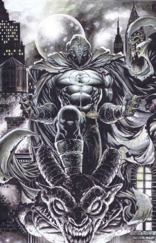 MoonKnight colored commission by emilcabaltierra