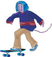 Blaze on Skateboard by vrgraphics