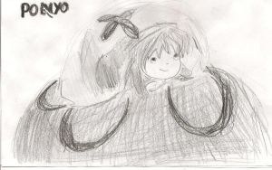 Ponyo of the Cliff by the Sea: Ponyo Fish Form by sealandmintbunny