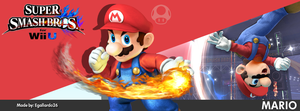 Super Smash Bros. For Wii U/3DS - Mario FBCover by egallardo26